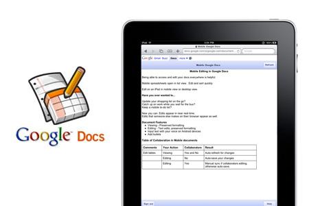 Iphoneipadgoogle for Google documents editor