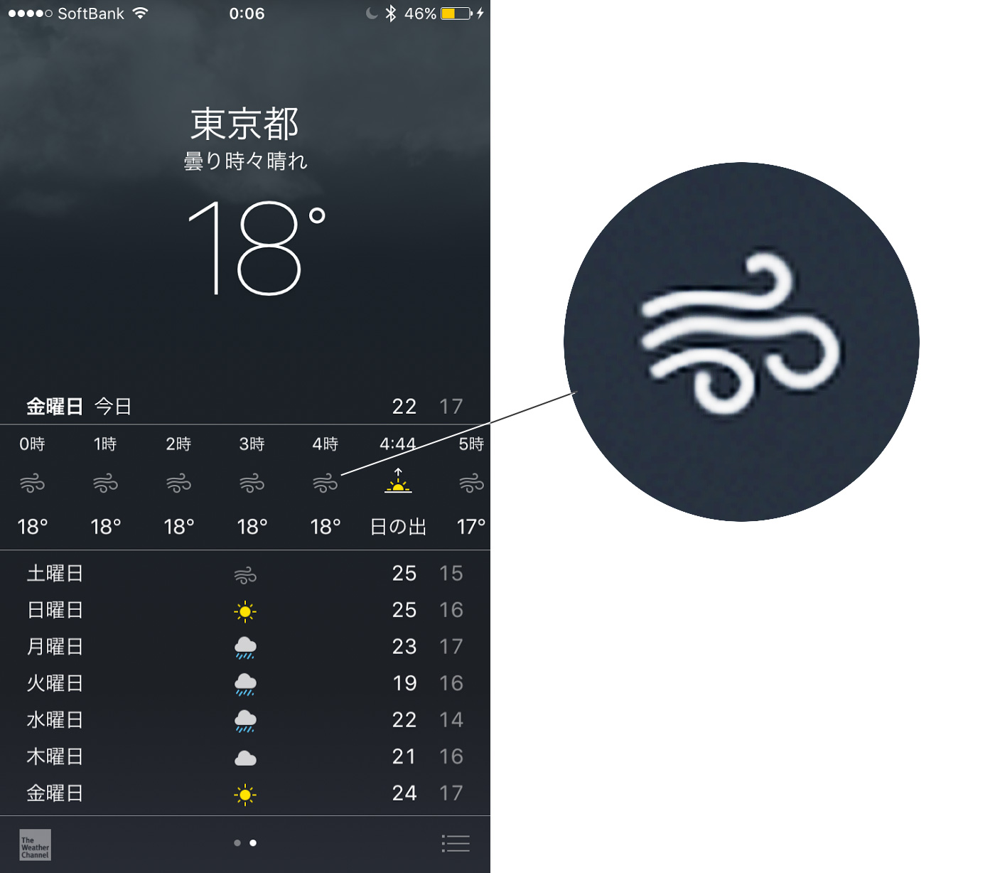 weather icons on iphone 天気マーク iphone 16468